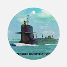 troosevelt note card Round Ornament
