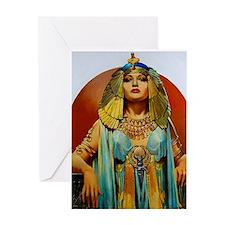 Cleopatra Flapper Art Deco Glamorous Pin Up Greeti