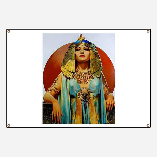 Cleopatra Flapper Art Deco Glamorous Pin Up Banner