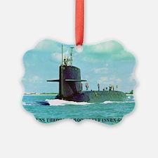 troosevelt postcard Ornament