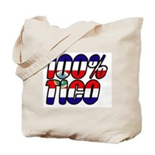 100% tico costa rica Tote Bag