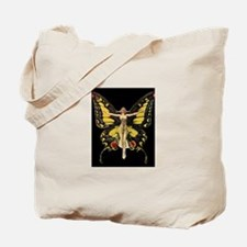 Art Deco Butterfly Flapper Jazz Age 1920s Tote Bag