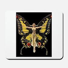 Art Deco Butterfly Flapper Jazz Age 1920s Mousepad