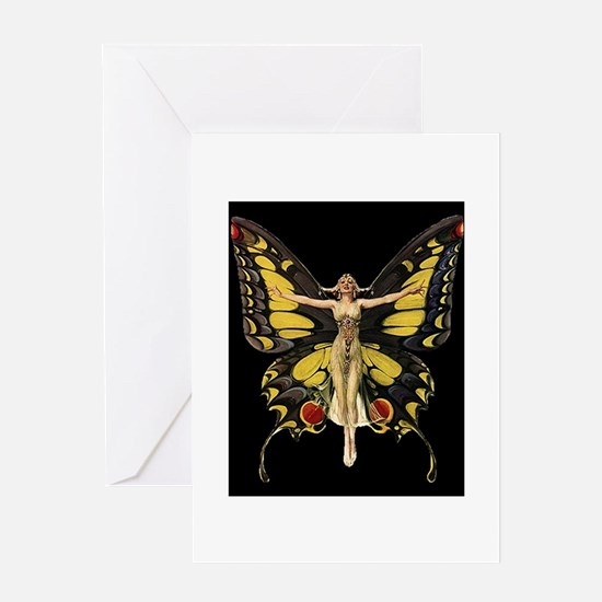 Art Deco Butterfly Flapper Jazz Age 1920s Greeting