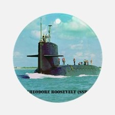troosevelt small poster Round Ornament