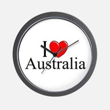 """I Love Australia"" Wall Clock"