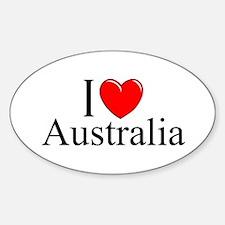 """I Love Australia"" Oval Decal"
