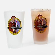 troosevelt patch transparent Drinking Glass