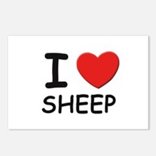 I love sheep Postcards (Package of 8)