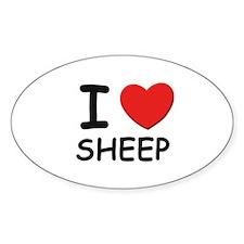 I love sheep Oval Decal