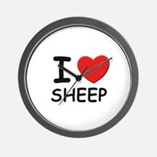 I love sheep Wall Clock