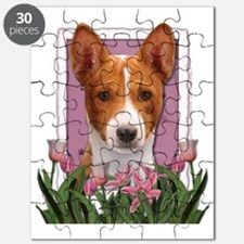 Pink_Tulips_Basenji Puzzle