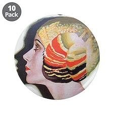 "Art Deco Flapper Magazine Cover Roaring 20s 3.5"" B"