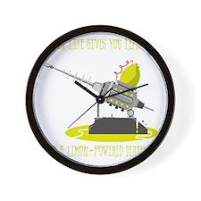 Lemon Powered Death Ray Wall Clock