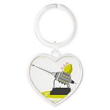 Lemon Powered Death Ray Heart Keychain