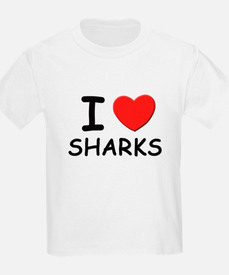 I love sharks Kids T-Shirt
