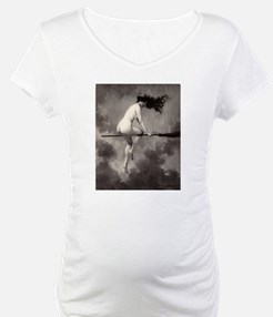 Victorian Risque Witch on Broomstick Shirt