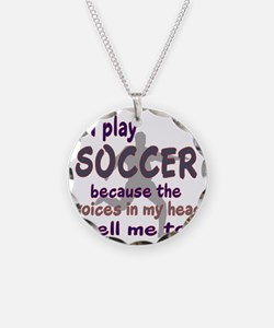 VOICES IN MY HEAD SOCCER Necklace