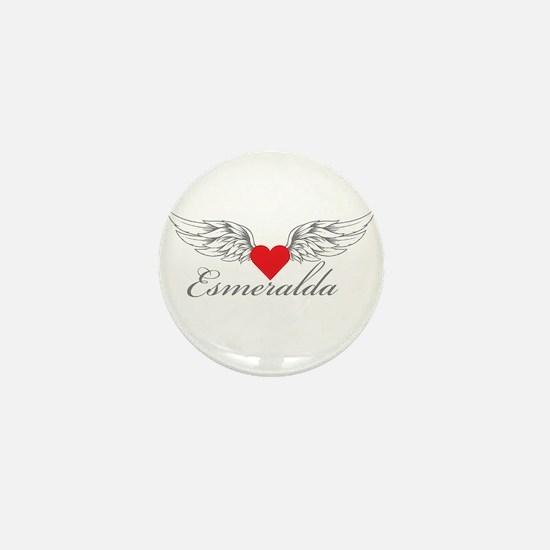 Angel Wings Esmeralda Mini Button