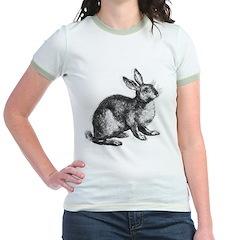 Hand Sketched Rabbit Jr. Ringer T-Shirt
