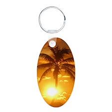 palm sunset 3 Keychains
