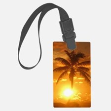palm sunset 3 Luggage Tag