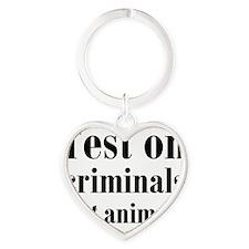 testcriminals_sq Heart Keychain