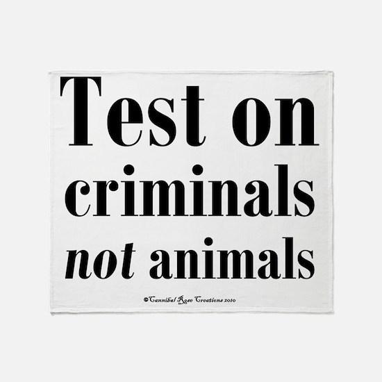 testcriminals_sq Throw Blanket