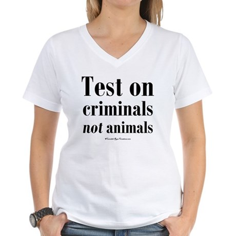 testcriminals_sq Women's V-Neck T-Shirt
