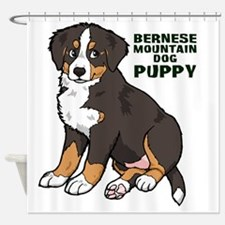 Sitting Bernese Mountain Dog Puppy Shower Curtain
