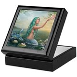 Mermaid Square Keepsake Boxes