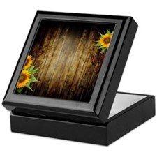 Butterflies and Sunflowers Keepsake Box