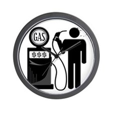 High Gas Prices Suicide Pump Wall Clock