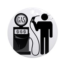 High Gas Prices Suicide Pump Round Ornament