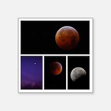 "Lunar Eclipse Montage Square Sticker 3"" x 3"""