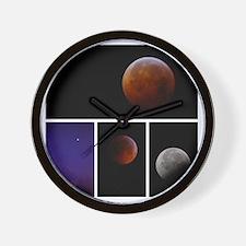 Lunar Eclipse Montage Wall Clock