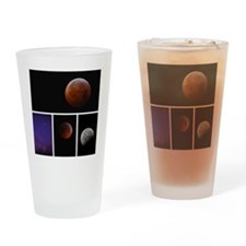 Lunar Eclipse Montage Drinking Glass