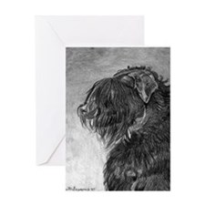 Black Russian Terrier Greeting Cards