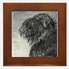 Black Russian Terrier Framed Tile