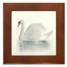 White Swan Framed Tile
