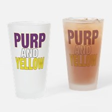PURPNYELLOW Drinking Glass