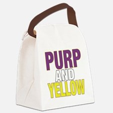 PURPNYELLOW Canvas Lunch Bag