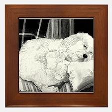 Cockapoo Dog Framed Tile