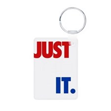 JUST DID IT RWB.gif Aluminum Photo Keychain