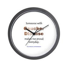 """Gaucher Disease Pride"" Wall Clock"