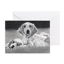 English Setter Puppies Greeting Cards