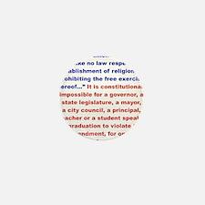 First Amendment the truth Mini Button