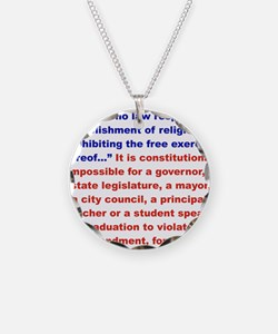 First Amendment the truth Necklace