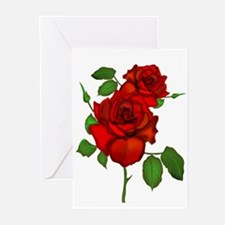 Rose Red Greeting Cards (Pk of 10)
