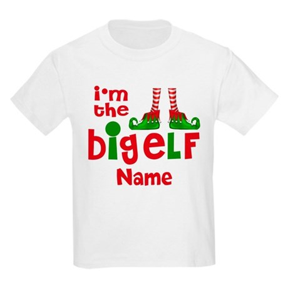 CafePress Big Elf Christmas Personalized T-Shirt